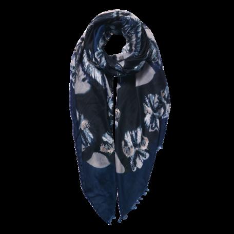Sjaal 85*180 cm Blauw | JZSC0597BL | Clayre & Eef