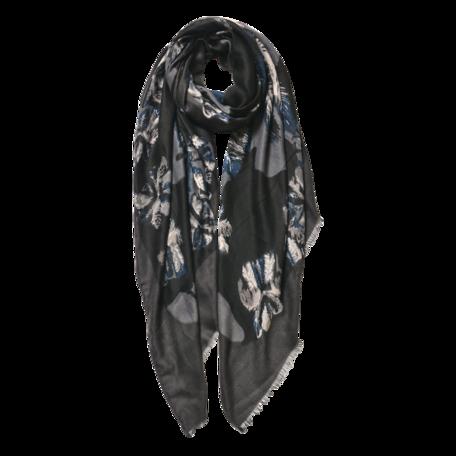 Sjaal 85*180 cm Zwart | JZSC0597G | Clayre & Eef