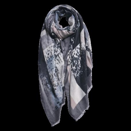 Sjaal 85*180 cm Grijs | JZSC0598G | Clayre & Eef