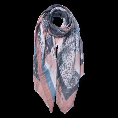 Sjaal 85*180 cm Roze | JZSC0598P | Clayre & Eef