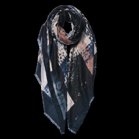 Sjaal 85*180 cm Zwart | JZSC0598Z | Clayre & Eef