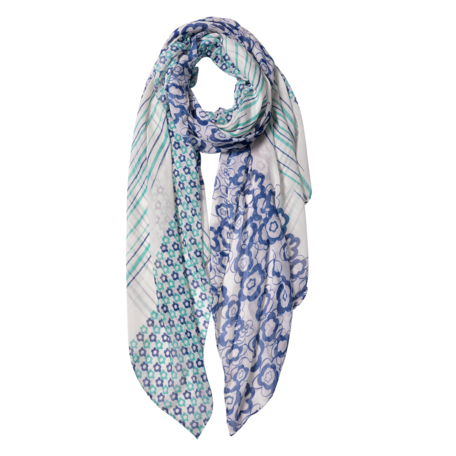 Sjaal 85*180 cm Blauw | JZSC0599BL | Clayre & Eef