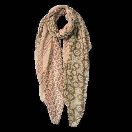 Sjaal 85*180 cm Beige | JZSC0599G | Clayre & Eef