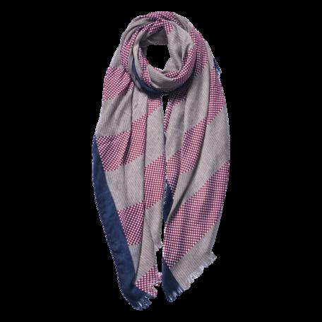 Sjaal 85*180 cm Rood | JZSC0600P | Clayre & Eef