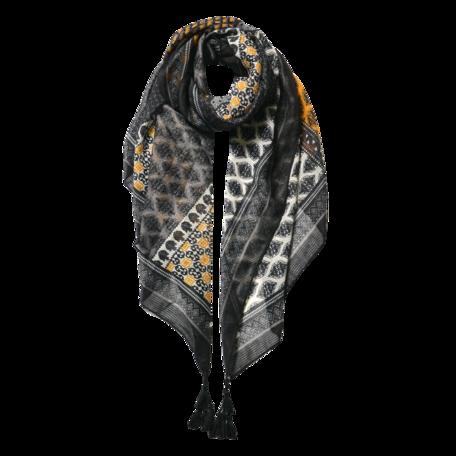 Sjaal 85*180 cm Zwart | JZSC0601Y | Clayre & Eef