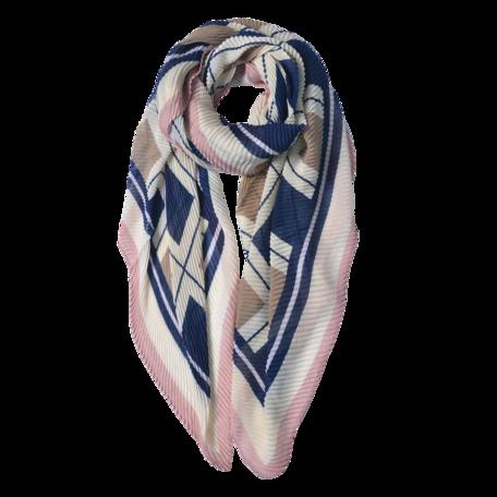 Sjaal 85*180 cm Blauw | JZSC0602BL | Clayre & Eef