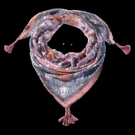 Sjaal 110*110 cm Grijs | JZSC0606DG | Clayre & Eef