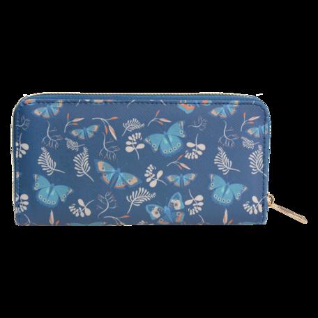 Portemonnee 10*19 cm Blauw | JZWA0094 | Clayre & Eef