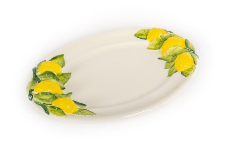 Ovale schaal citroenen 38 x 26 cm | FR530A | Piccobella