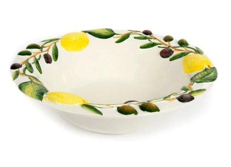 Ronde diepe schaal met olijven en citroenen Ø 35 cm | O006 | Piccobella