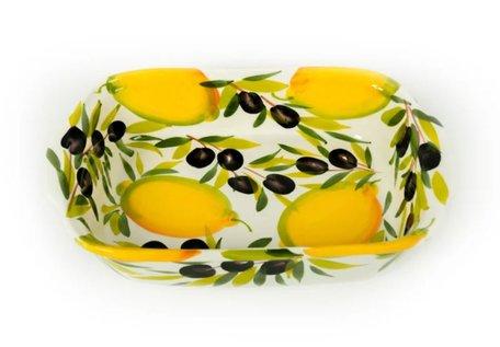 Oven- lasagne schaal citroen en olijf 30 x 19 cm | EWCI02 | Piccobella