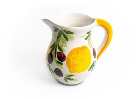 Water- wijn Kan citroen en olijf klein 16 x 17 cm | FR522 | Piccobella
