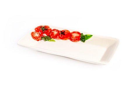 Rechthoekig plat schaaltje tomaat 28 x 15 cm | PO51 | Piccobella
