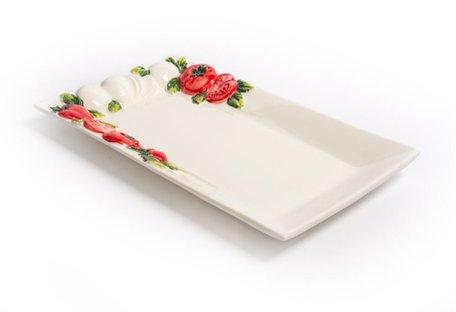 Rechthoekige schaal tomaat en mozzarella 36 x 21 cm | P080 | Piccobella