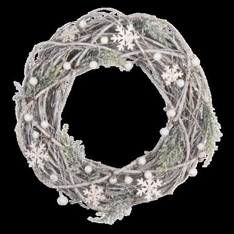 Decoratie krans ø 36*9 cm Wit | 64833 | Clayre & Eef