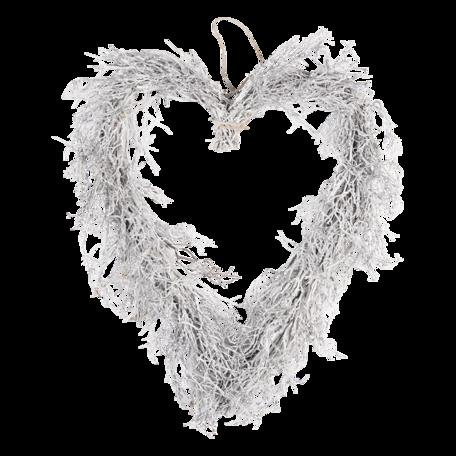 Decoratie krans hart 50*8*57 cm Bruin   64837   Clayre & Eef