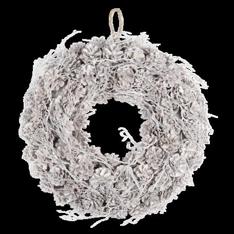 Decoratie krans ø 50*10 cm Wit | 64838 | Clayre & Eef
