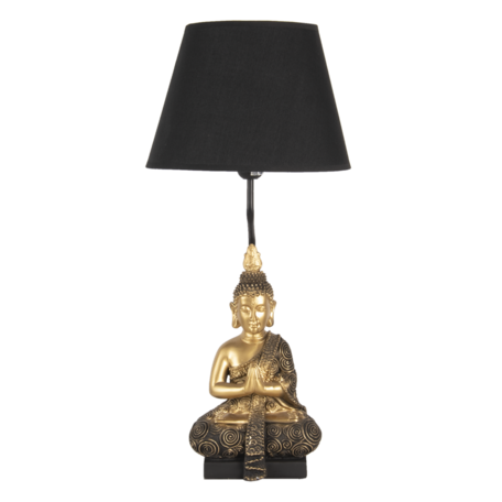Tafellamp ø 28*60 cm E27/max 1*60W Zwart | 6LMC0037 | Clayre & Eef