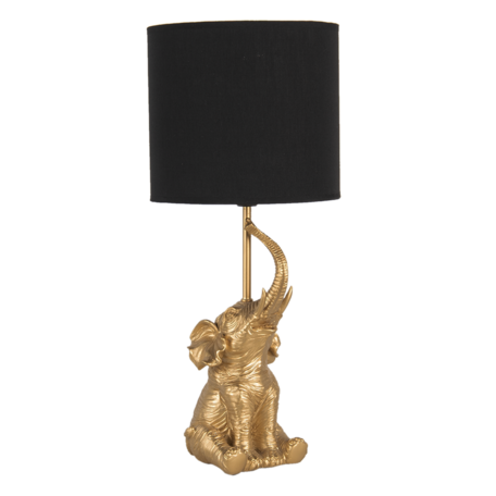 Tafellamp ø 20*46 cm E27/max 1*60W Goudkleurig   6LMC0038   Clayre & Eef