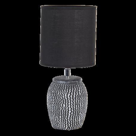 Tafellamp ø 15*36 cm / E27 Zwart   6LMC0043   Clayre & Eef