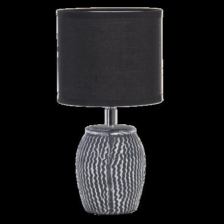 Tafellamp ø 15*29 cm / E27 Zwart   6LMC0044   Clayre & Eef