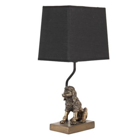 Tafellamp 23*14*43 cm E27/max 1*60W Goudkleurig | 6LMC0050 | Clayre & Eef