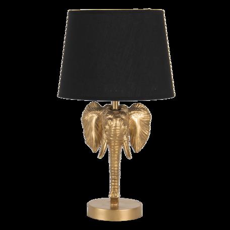 Tafellamp olifant 25*25*41 cm E27 Goudkleurig   6LMC0051   Clayre & Eef