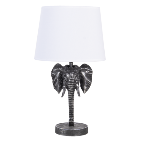 Tafellamp olifant 25*25*41 cm E27 Zwart   6LMC0052   Clayre & Eef