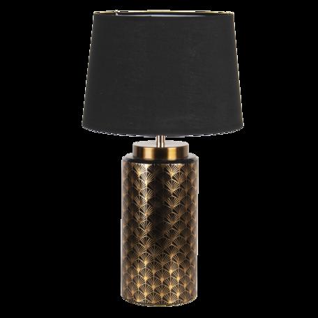 Tafellamp ø 28*51 cm E27/max 1*60W Goudkleurig   6LMC0054   Clayre & Eef