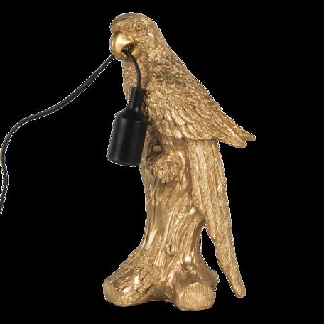 Tafellamp papegaai 18*13*36 cm E27 Goudkleurig   6LMP729   Clayre & Eef
