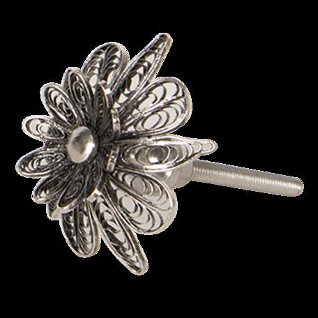Deurknop ø 4*4 cm Zilverkleurig | 64491 | Clayre & Eef