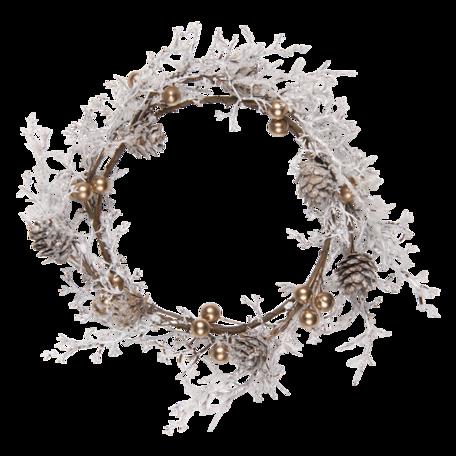 Decoratie krans ø 22 cm Wit | 64823 | Clayre & Eef