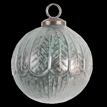 Kerstbal ø 10 cm Groen   6GL3193   Clayre & Eef