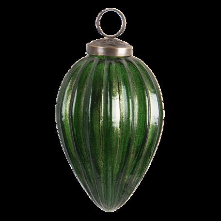 Kerstbal ø 10 cm Groen   6GL3195   Clayre & Eef