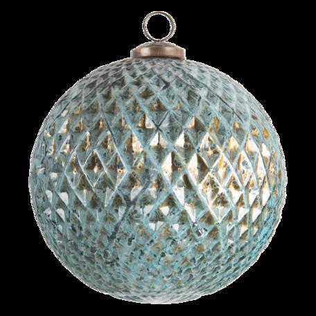 Kerstbal ø 15 cm Blauw   6GL3198   Clayre & Eef