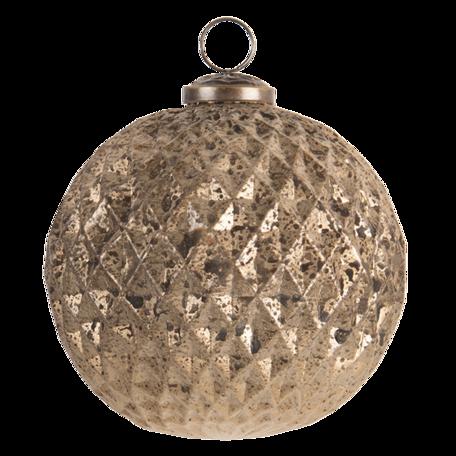 Kerstbal ø 12 cm Goudkleurig   6GL3200   Clayre & Eef