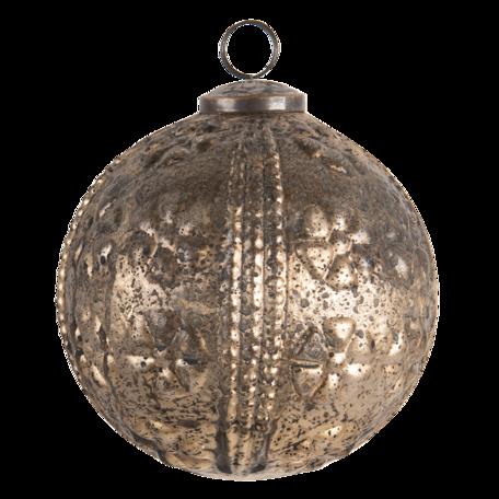 Kerstbal ø 12 cm Goudkleurig   6GL3201   Clayre & Eef