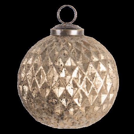 Kerstbal ø 10 cm Goudkleurig | 6GL3202 | Clayre & Eef