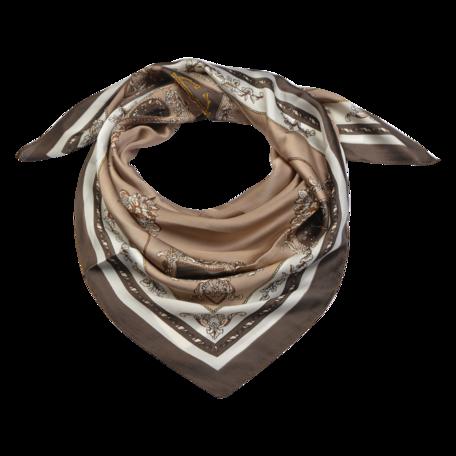 Sjaal 90*90 cm Beige | MLSC0425KH | Clayre & Eef