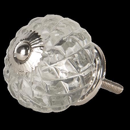 Deurknop ø 4*4 cm Transparant | 64515 | Clayre & Eef
