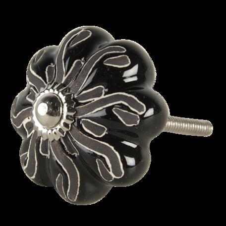 Deurknop 5*6 cm Zwart | 64783 | Clayre & Eef