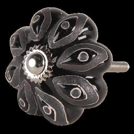 Deurknop 5*6 cm Zwart | 64784 | Clayre & Eef