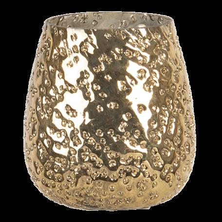 Waxinelichthouder ø 11*11 cm Goudkleurig | 6GL3091L | Clayre & Eef