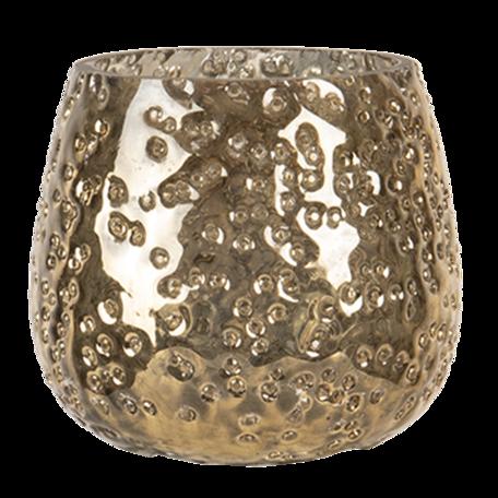 Waxinelichthouder ø 8*8 cm Goudkleurig | 6GL3091S | Clayre & Eef