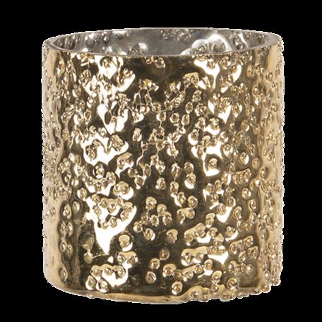 Waxinelichthouder ø 8*8 cm Goudkleurig | 6GL3092S | Clayre & Eef