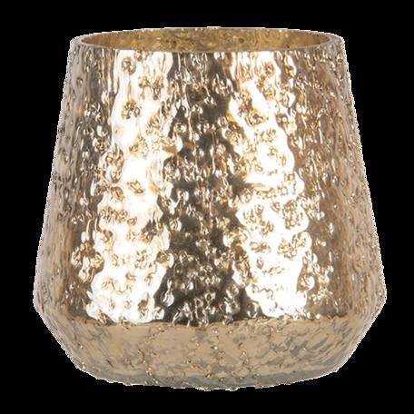 Waxinelichthouder ø 11*12 cm Goudkleurig | 6GL3133 | Clayre & Eef