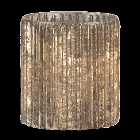 Waxinelichthouder ø 10*10 cm Goudkleurig | 6GL3137 | Clayre & Eef