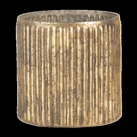 Waxinelichthouder ø 11*12 cm Goudkleurig | 6GL3138 | Clayre & Eef
