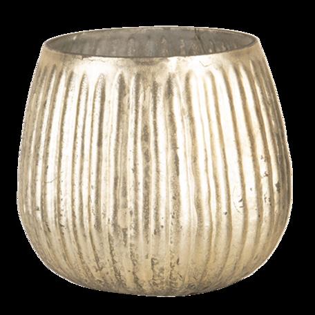Waxinelichthouder ø 8*8 cm Goudkleurig | 6GL3139 | Clayre & Eef