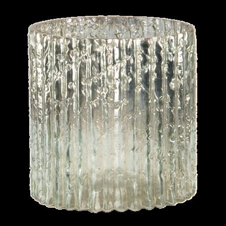 Waxinelichthouder ø 8*8 cm Wit | 6GL3165 | Clayre & Eef